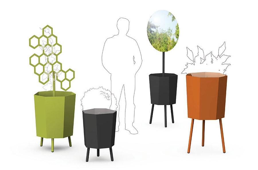 Flora Elevation planters, design by Arik Levy.
