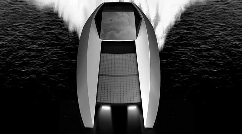 Code-X Yacht, a luxury Catamaran with hybrid drive.