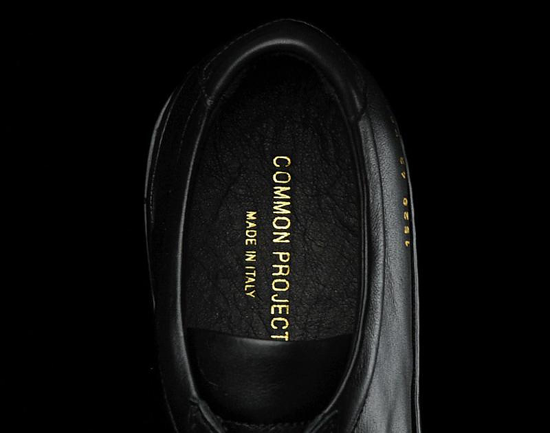 Minimal designer sneakers by Common Projects.