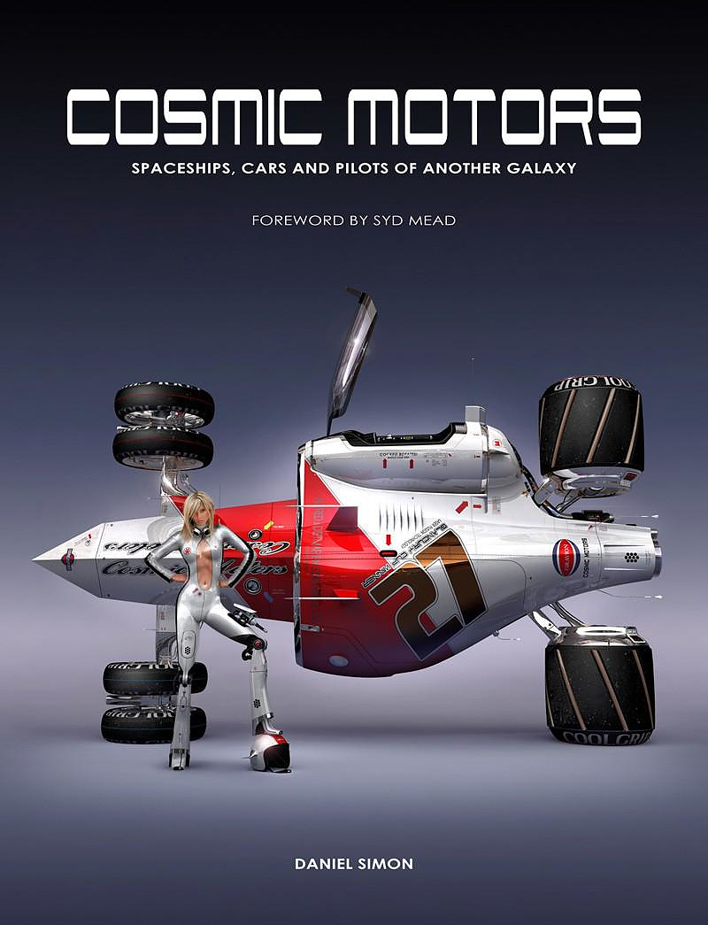 Cosmic Motors illustrated art by Daniel Simon.