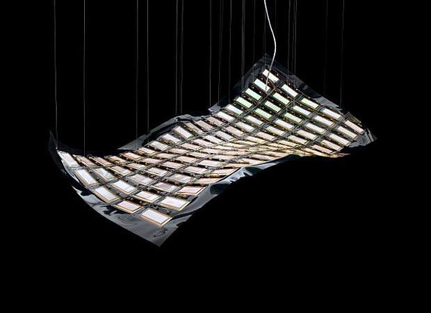 flying future oled lamp by ingo maurer design is this. Black Bedroom Furniture Sets. Home Design Ideas