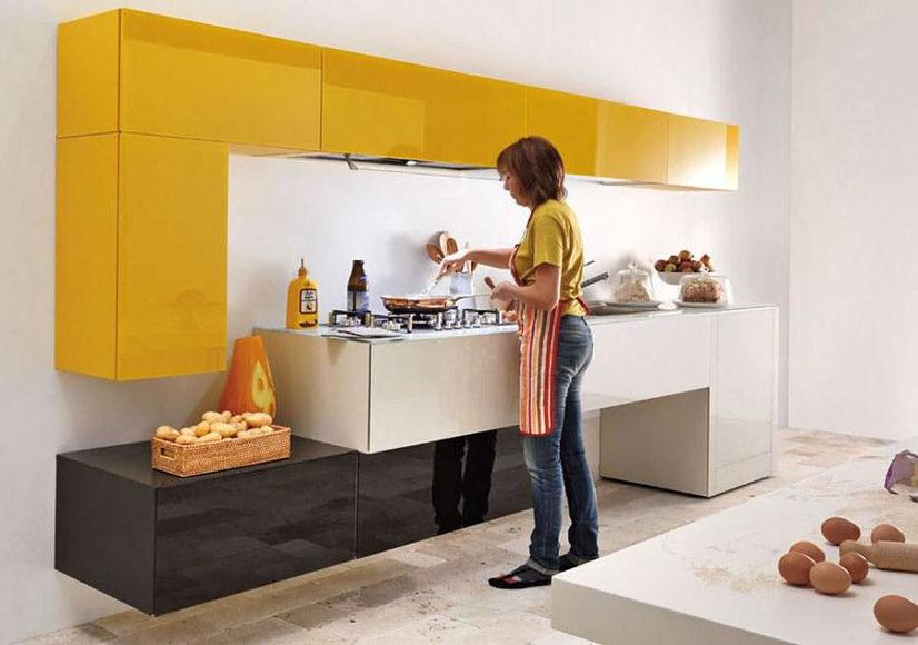 Minimalist kitchen furniture by Lago.