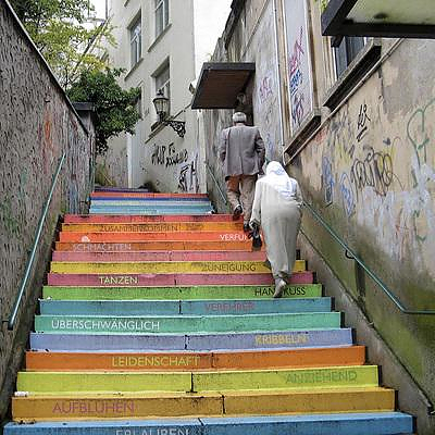 Wuppertal stairs by Horst Gläsker.