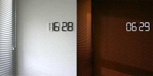 Black & White digital clock by Vadim Kibardin