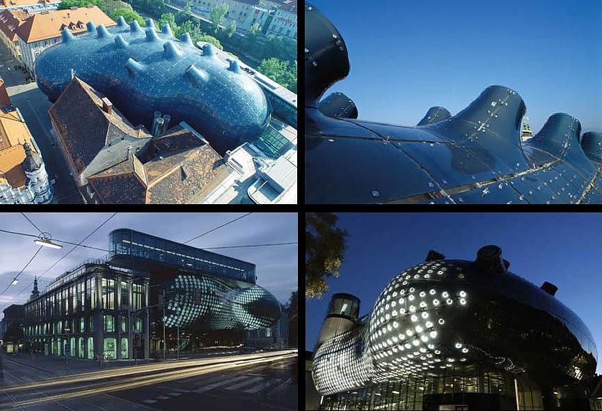 Graz Art Museum, step into Blobitecture.