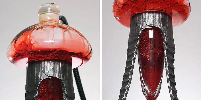 Modern shisha pipes by Meduse Design.