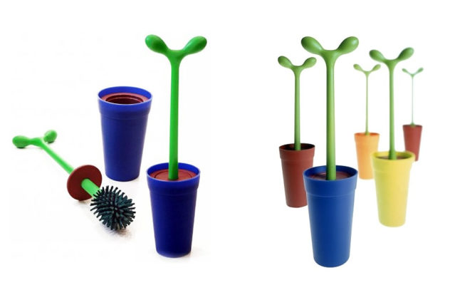 Merdolino toilet brush by Alessi