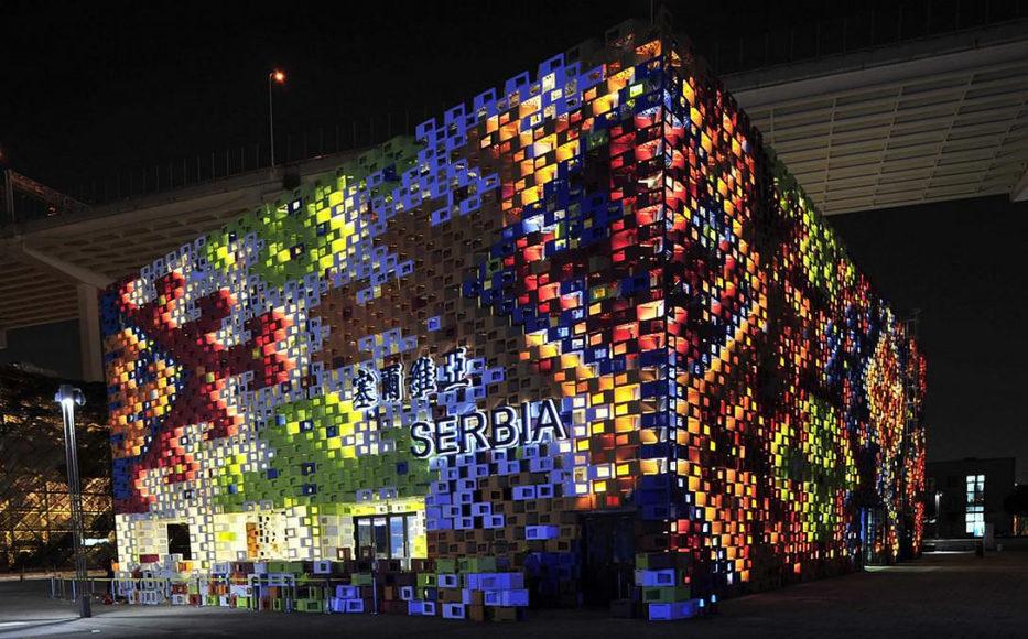 Shanghai Expo 2010 φιέστα αρχιτεκτονικής.