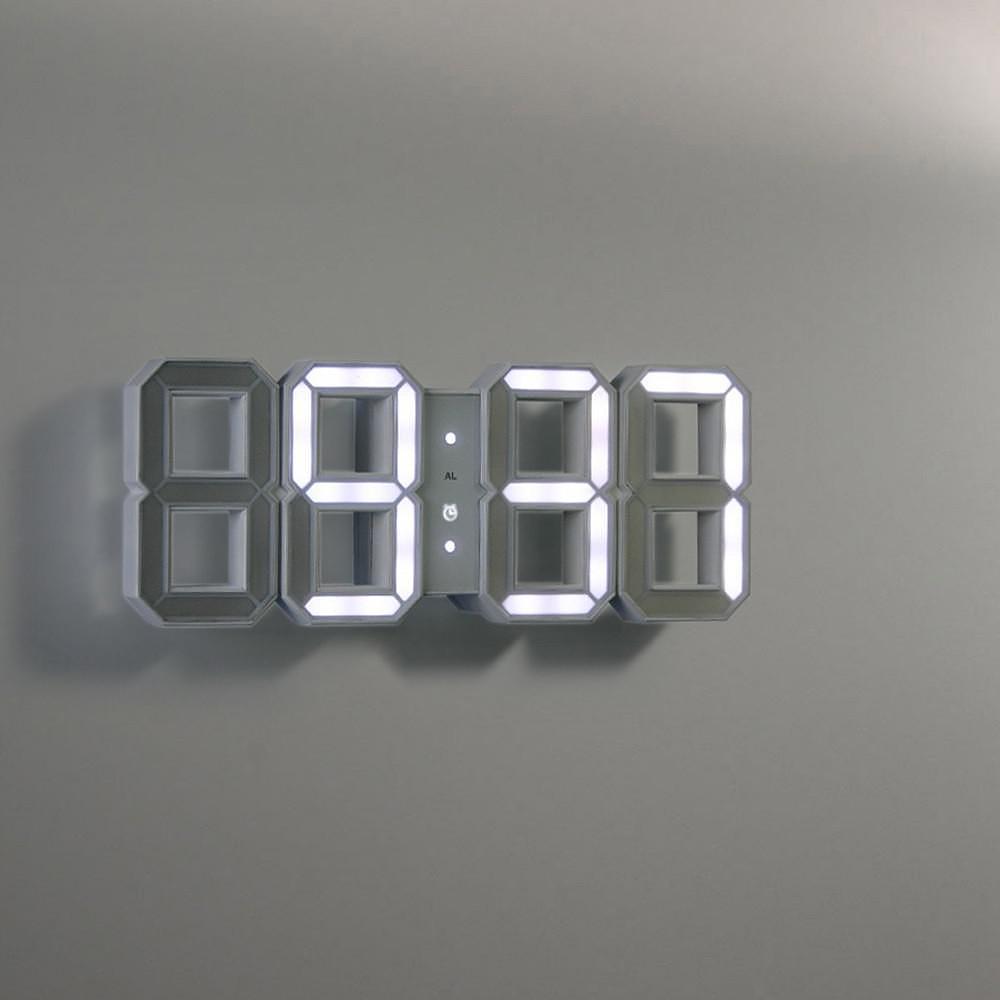 Black & White digital LED clock by Vadim Kibardin.