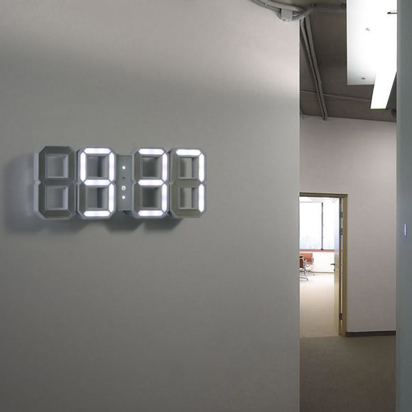 Ρολόι LED Black & White, αφαιρετική αίσθηση του χρόνου.