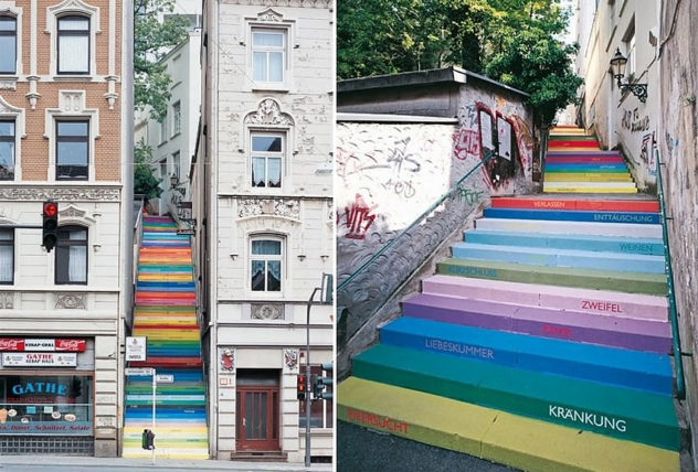 Wuppertal stairs by Horst Glasker
