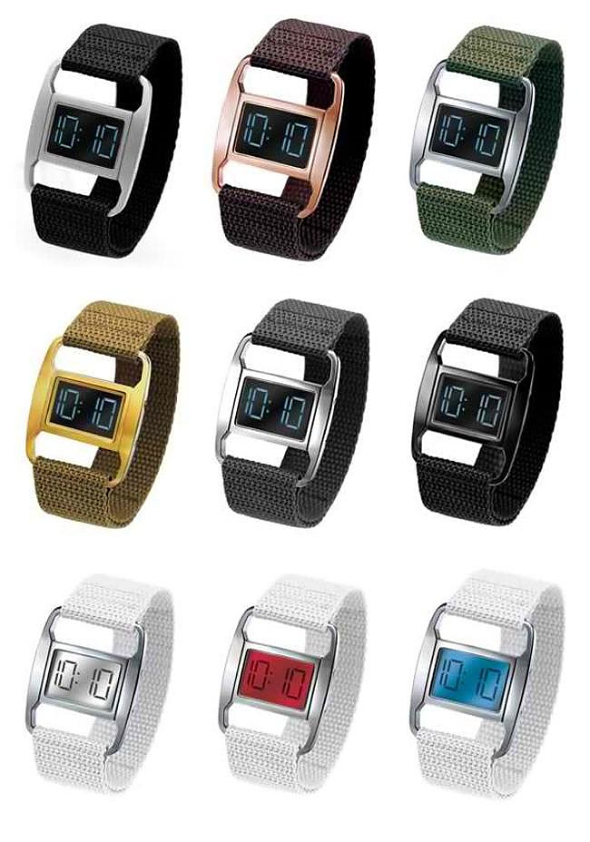 Michael Young PXR digital watches.