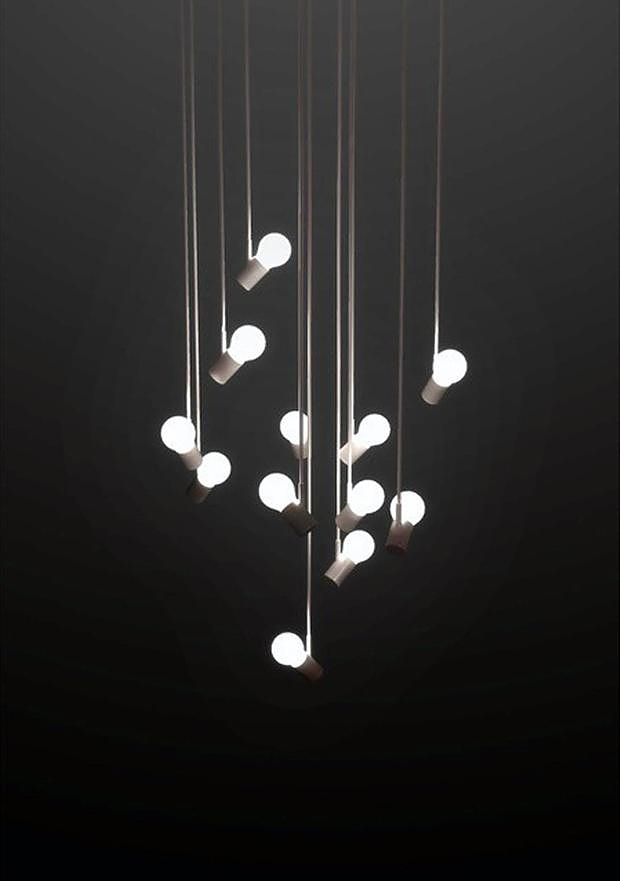 Bird lamps by Zhili Liu.