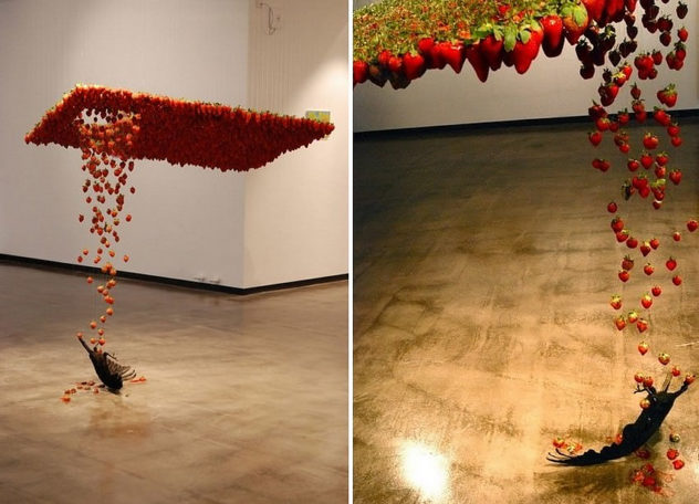 Floating Sculptures by Claire Morgan
