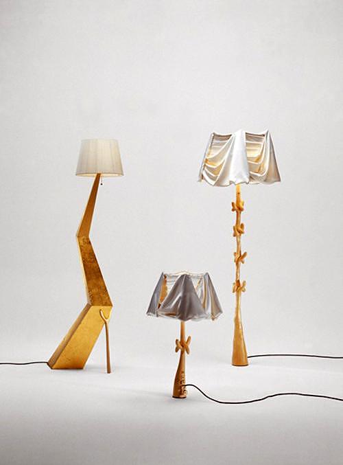 Bracelli, Muletas, and Cajones lamp-sculptures by Salvador Dali.