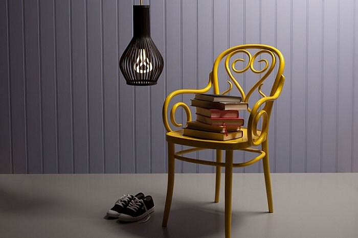 PLUMEN 001 Designer low energy light bulb.