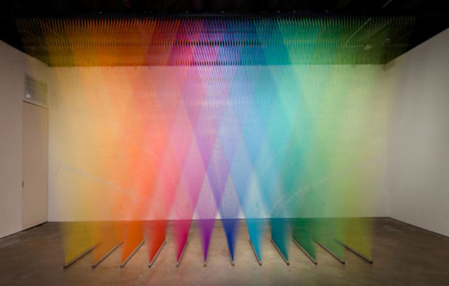 Colorful Sculptures made of Thread by Gabriel Dawe