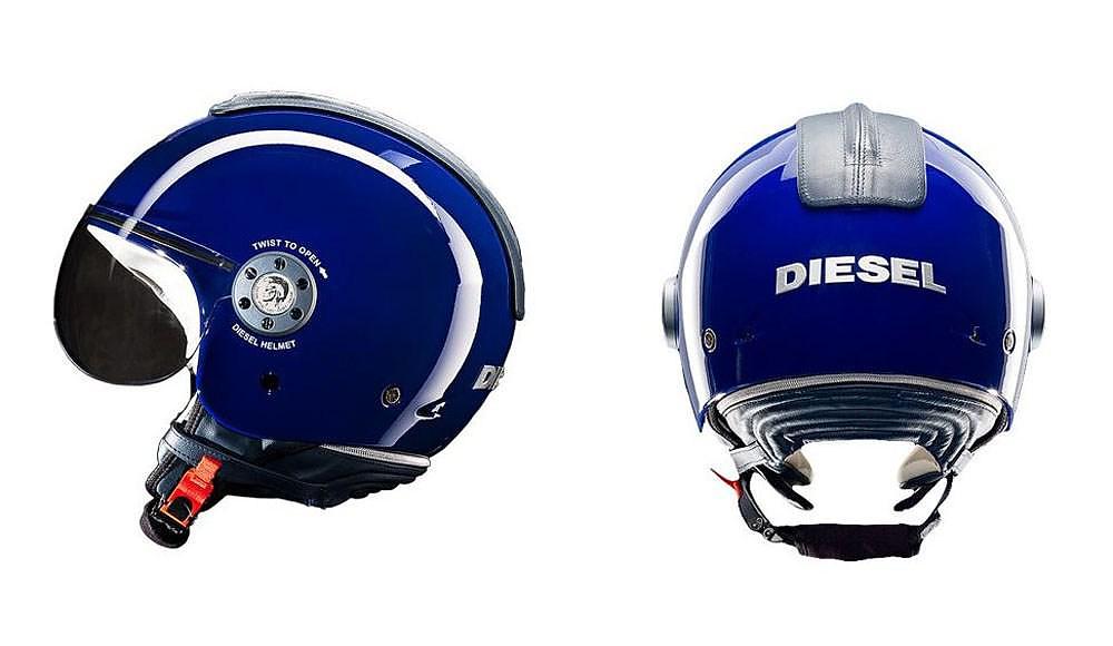 Diesel Mowie open face motorcycle helmet.