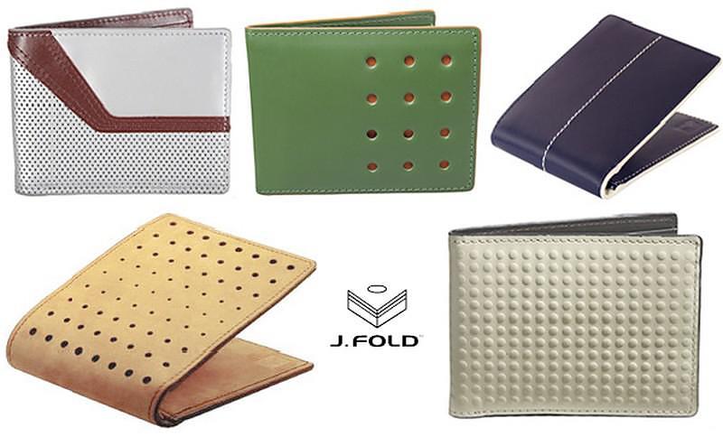 Μοντέρνα δερμάτινα πορτοφόλια της J.FOLD