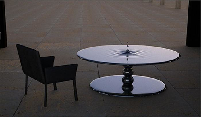 Ripple Series Tables that Freeze Time by Lee j.Rowland.