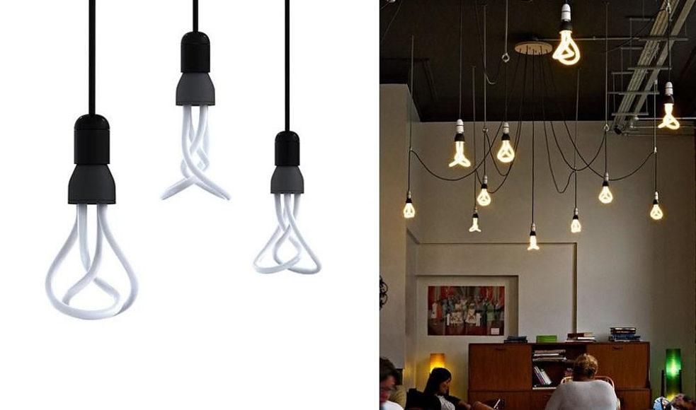 PLUMEN 001 Designer low energy light bulb.
