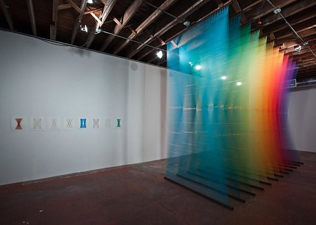 Colorful Sculptures made of Thread by Gabriel Dawe.