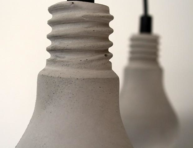 Concrete Edison Lamp by Tove Adman.