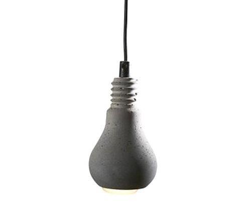 Τσιμεντένιο φωτιστικό Edison της Tove Adman.
