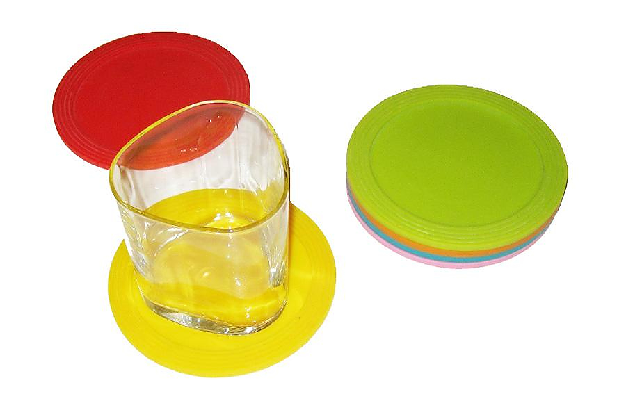 MoMA Stacking Silicone Coasters.