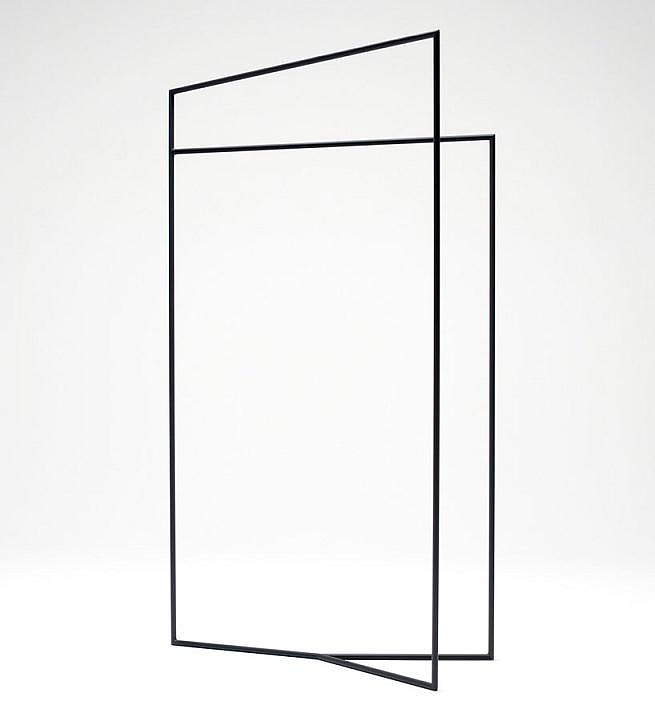 nendo thin black lines minimalist furniture
