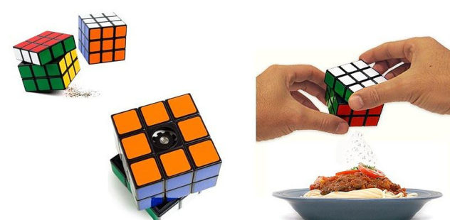 Rubik's Cube pepper mill