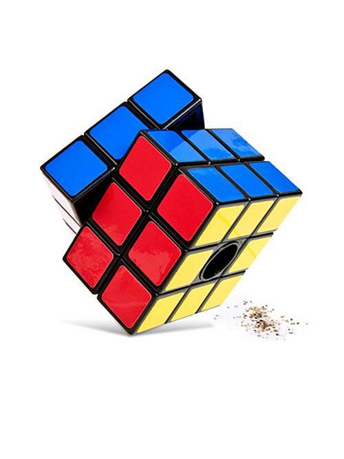 Rubik's Cube Pepper Mill.