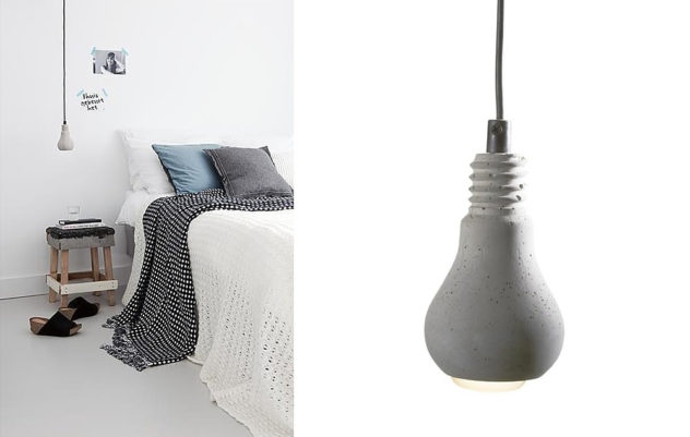 Concrete Edison Lamp by Tove Adman