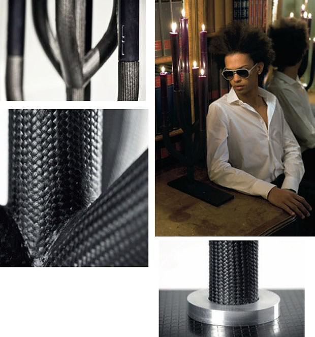 Carbon Fiber Candle Holders by Italia Independent.