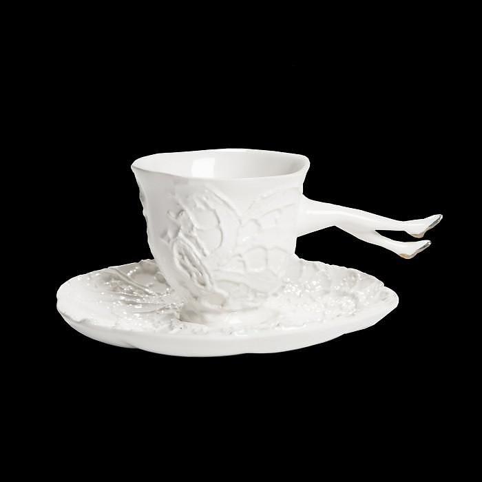 Σερβίτσιο τσαγιού και καφέ Blaue Blume από την Undergrowth Design.
