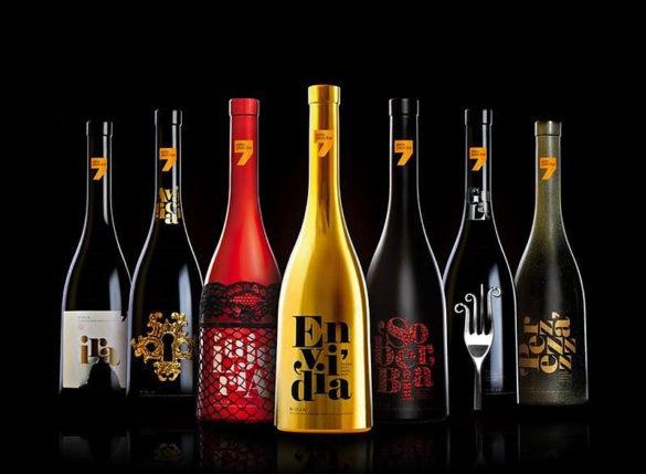Seven Sins Wine Bottles by Pecados