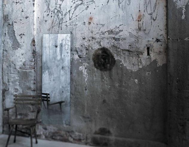 Fiction Mirror by Jean Marie Massaud for Glas Italia