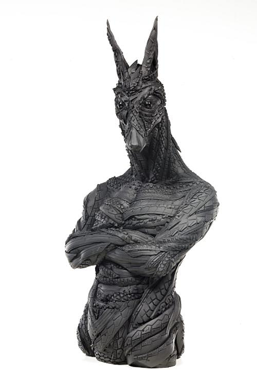 Sculptures made of recycled tires by Yong Ho Ji.