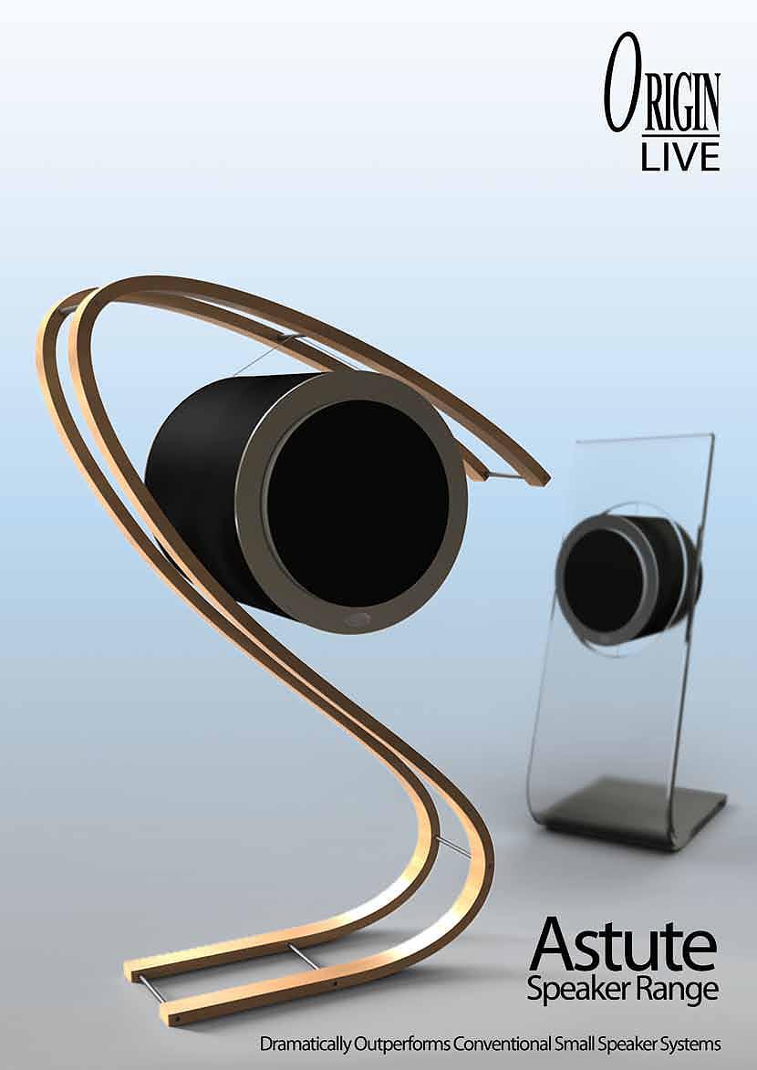 Κρεμαστά ηχεία Astute από την Origin Live.