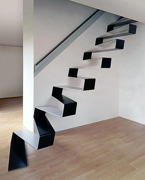 Μεταλλική μοντέρνα σκάλα από τους HSH Architects.