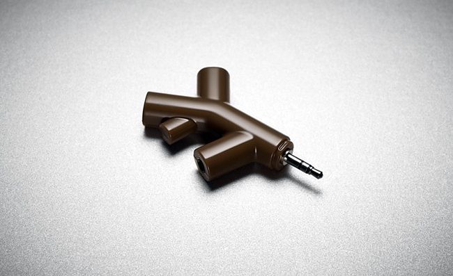 Music Branch Headphone Splitter by Kikkerland.
