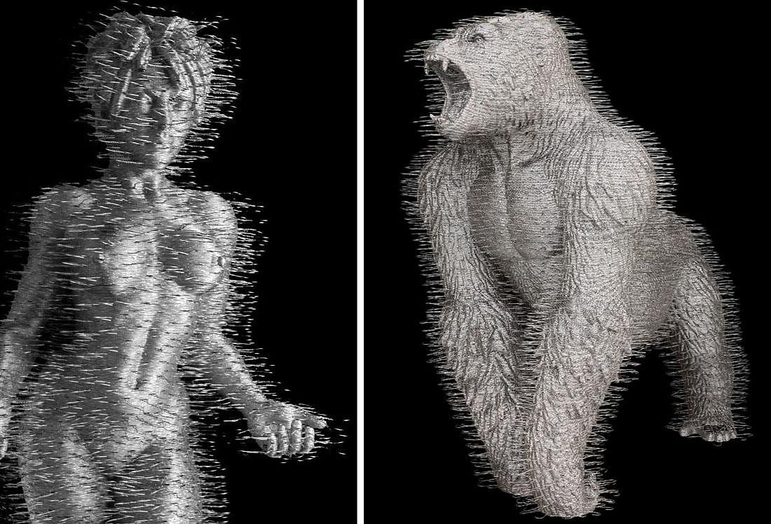 David-Mach-Coathanger-Sculptures