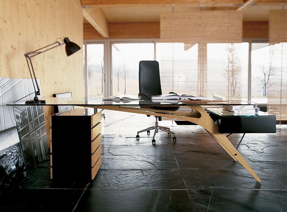 Zanotta Cavour writing desk by Carlo Mollino.
