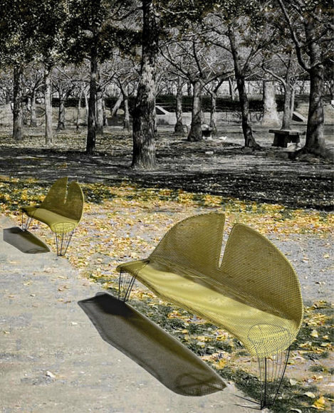 Ginkgo Leaf Bench by Manolis Anastasakis.