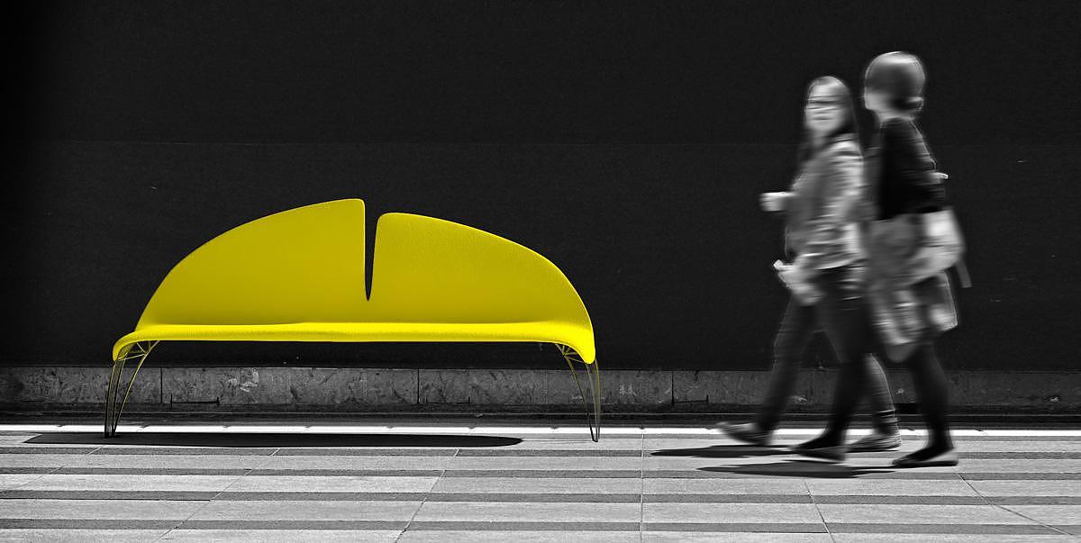 Ginkgo Leaf Bench by Manolis Anastasakis