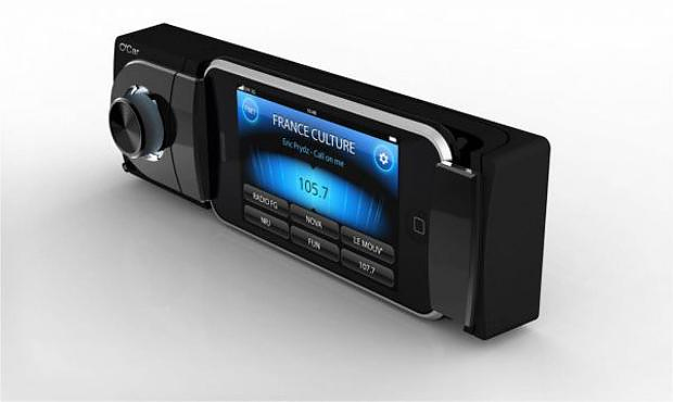 Oxygen Audio O-car, your iPhone becomes a Car Stereo.