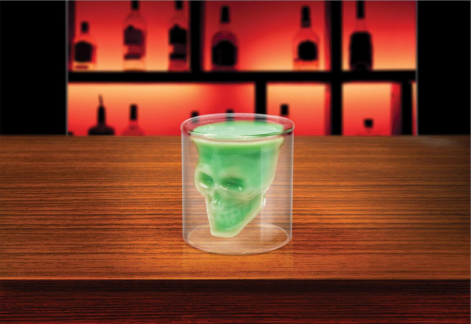 Doomed Crystal Skull Shot Glass.