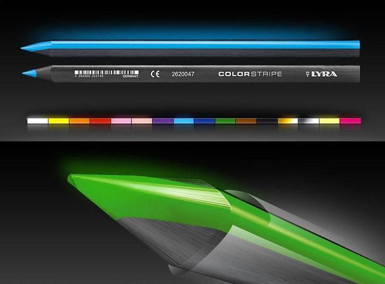 Χρωματιστά μολύβια Lyra Colorstripe.