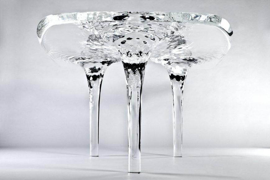 Liquid Glacial Table by Zaha Hadid.