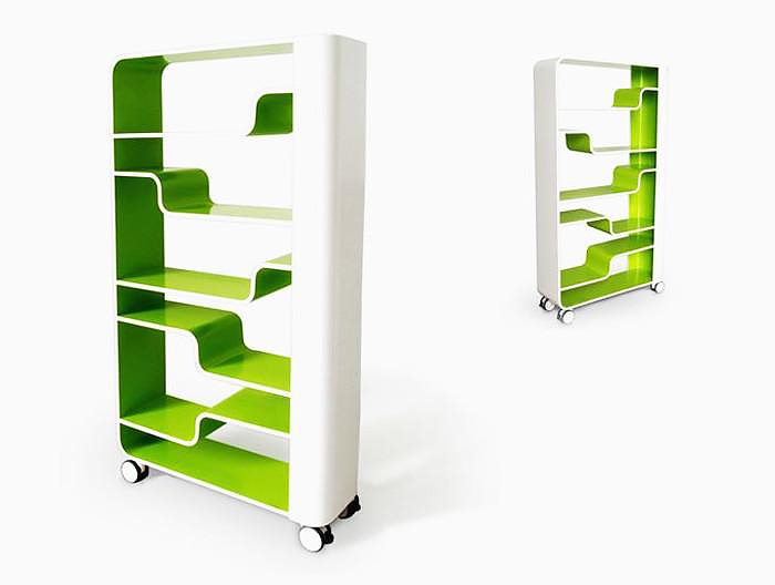 Waves Bookcase by Arco da Velha.